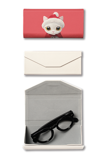 Foldable spectacle case_SugarCat CandyDoggie_Santa Miu