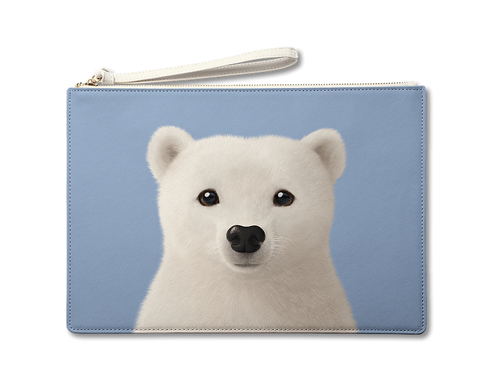 Large Pouch_SugarCat CandyDoggie_Polar the Polar Bear