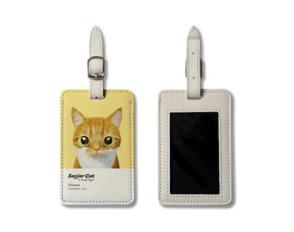 Luggage Tag_SugarCat CandyDoggie_Cheese the cat