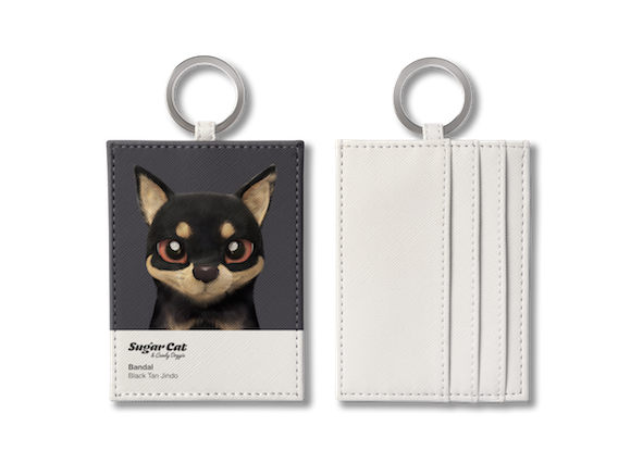 O-ring card holder_SugarCat CandyDoggie_Bandal the Black Tan