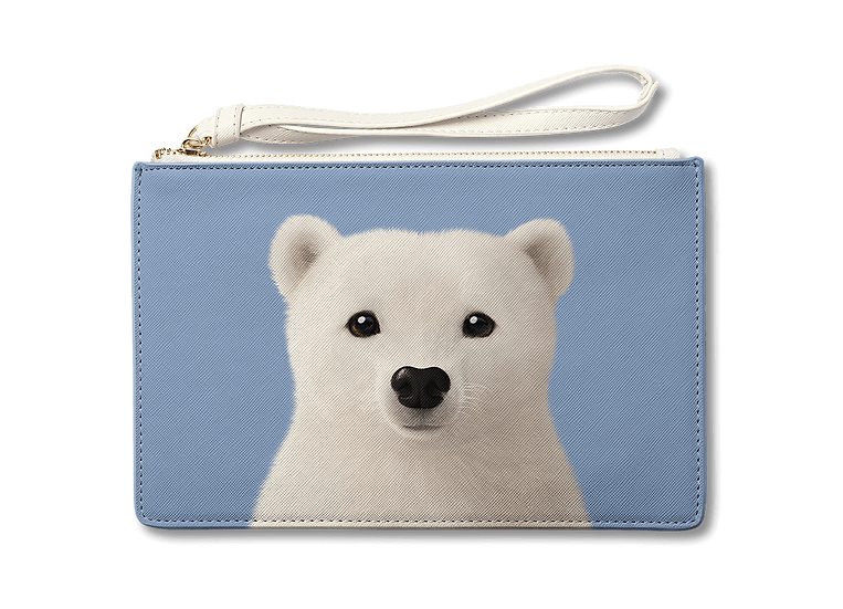 Medium Pouch_SugarCat CandyDoggie_Polar the Polar Bear
