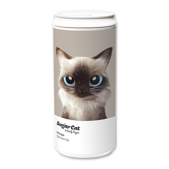 ECO Can 330ml_SugarCat CandyDoggie_Hongsi the Baliness cat