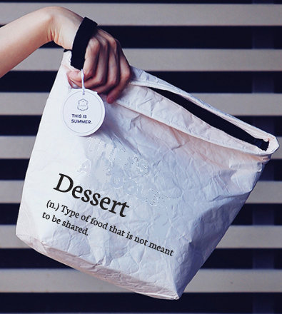 Insulated Lunch Bag with hand strap (Dessert...)