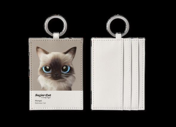 O-ring card holder_SugarCat CandyDoggie_Hongsi the Baliness cat