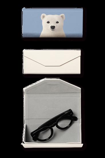 Foldable spectacle case_SugarCat CandyDoggie_Polar the Polar Bear