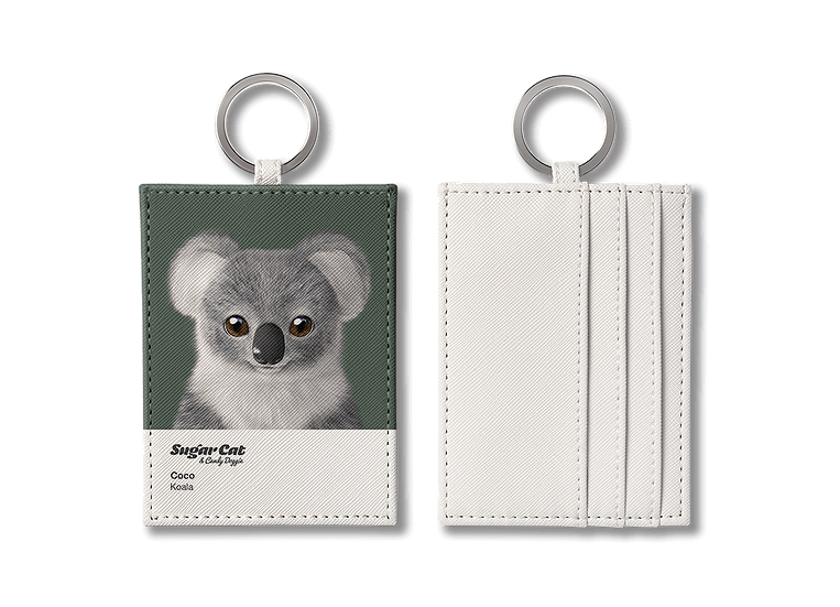 O-ring card holder_SugarCat CandyDoggie_Coco the Koala