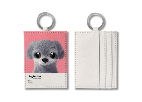 O-ring card holder_SugarCat CandyDoggie_Nanee the Poodle