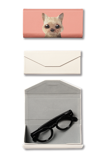 Foldable spectacle case_SugarCat CandyDoggie_Omji the Yorkshire Terrier