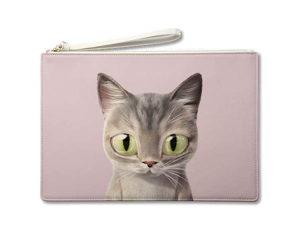 Large Pouch_SugarCat CandyDoggie_Pastel the cat