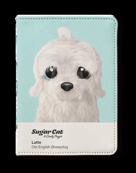 Passport Holder_SugarCat CandyDoggie_Latte the Old English Sheepdog