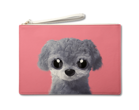 Large Pouch_SugarCat CandyDoggie_Nanee the Poodle