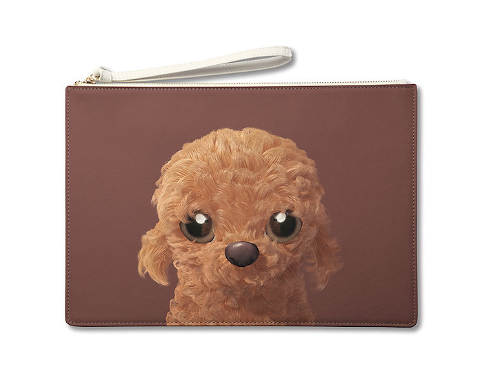 Large Pouch_SugarCat CandyDoggie_Choco the Poodle