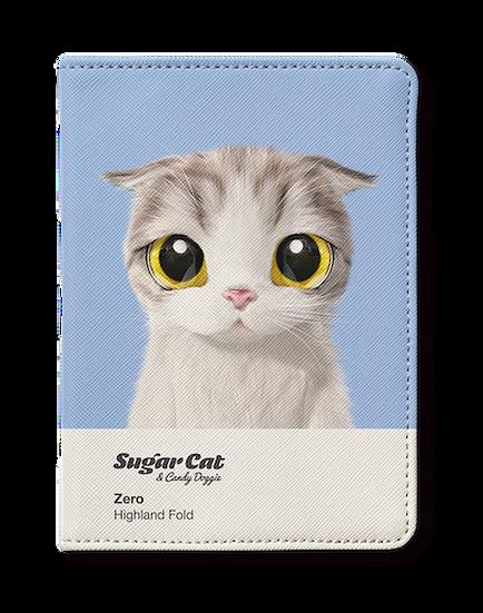Passport Holder_SugarCat CandyDoggie_Zero the Highland Fold
