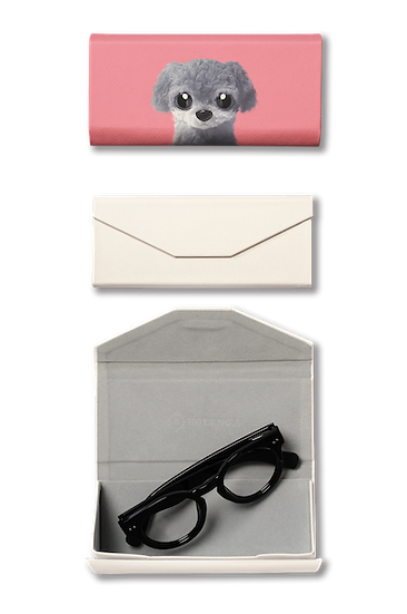 Foldable spectacle case_SugarCat CandyDoggie_Nanee the Poodle