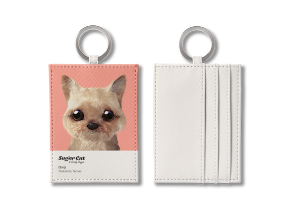 O-ring card holder_SugarCat CandyDoggie_Omji the Yorkshire Terrier