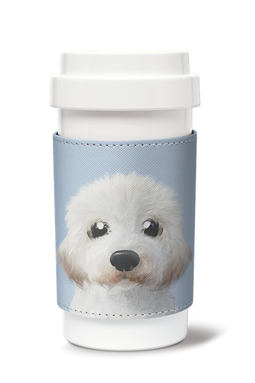 Cafe plus 400ml w/ PU sleeve_SugarCat CandyDoggie_Tayo the Doodle dog