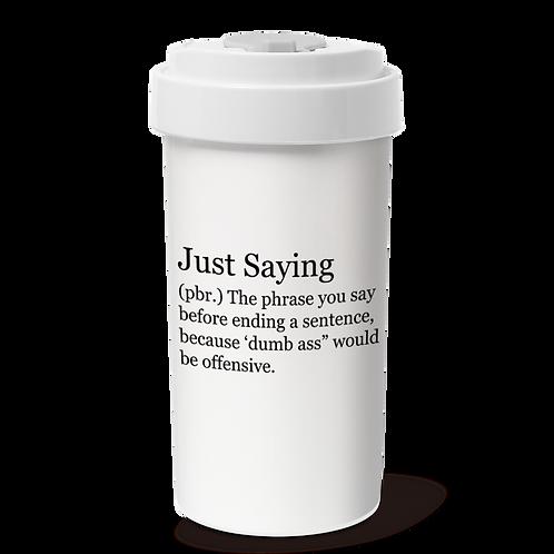 Cafe Plus 400ml_JustSaying_w/ Tyvek mug holder