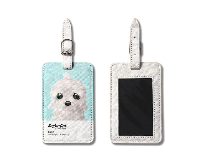 Luggage Tag_SugarCat CandyDoggie_Latte the Old English Sheepdog