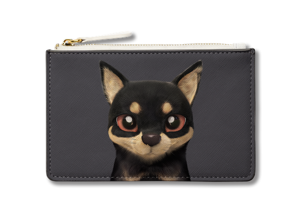 Small Pouch_SugarCat CandyDoggie_Bandal the Black Tan
