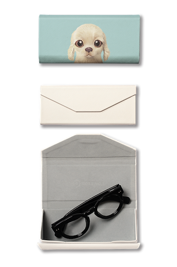 Foldable spectacle case_SugarCat CandyDoggie_Goofy the Cocker Spaniel