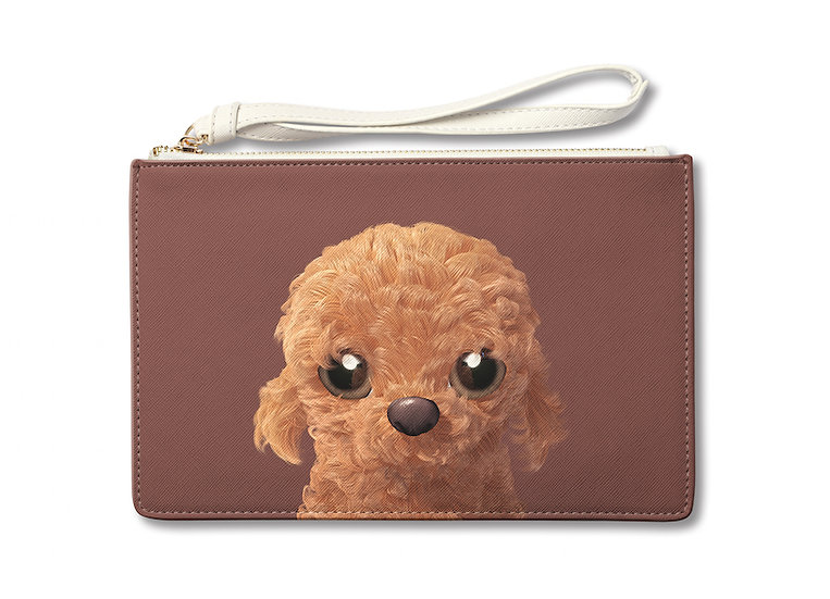 Medium Pouch_SugarCat CandyDoggie_Choco the Poodle