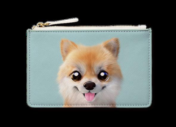 Small Pouch_SugarCat CandyDoggie_Tan the Pomeranian