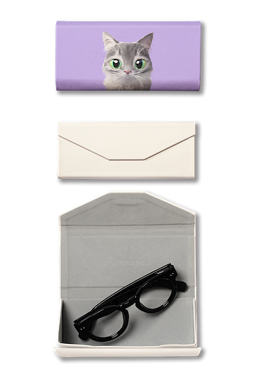 Foldable spectacle case_SugarCat CandyDoggie_Emma the Norwegian Forest cat