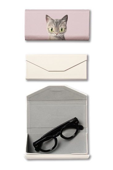 Foldable spectacle case_SugarCat CandyDoggie_Pastel the cat