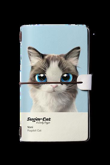 Travelogue notebook_SugarCat CandyDoggie_Vani the Ragdoll cat