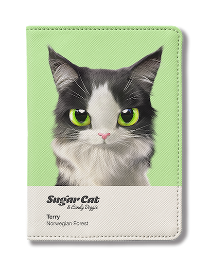 Passport Holder_SugarCat CandyDoggie_Terry the Norwegian Forest cat