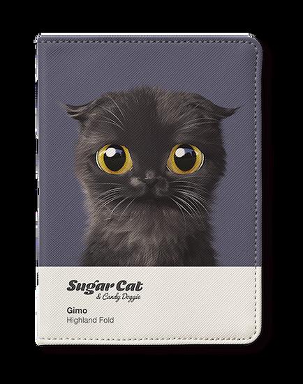 Passport Holder_SugarCat CandyDoggie_Gimo the Highland Fold cat