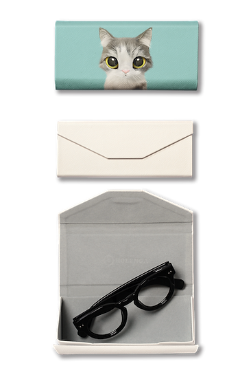 Foldable spectacle case_SugarCat CandyDoggie_Gurumi the Persian Cat