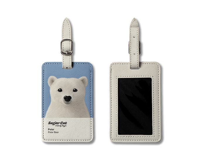 Luggage Tag_SugarCat CandyDoggie_Polar the Polar Bear