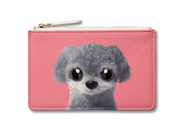 Small Pouch_SugarCat CandyDoggie_Nanee the Poodle
