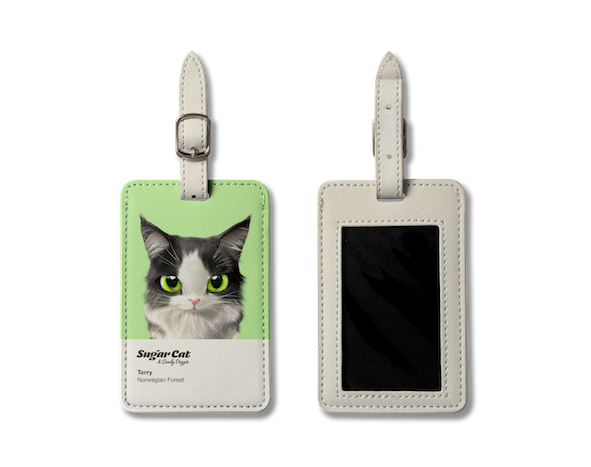 Luggage Tag_SugarCat CandyDoggie_Terry the Norwegian Forest cat