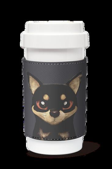Cafe plus 400ml w/ PU sleeve_SugarCat CandyDoggie_Bandal