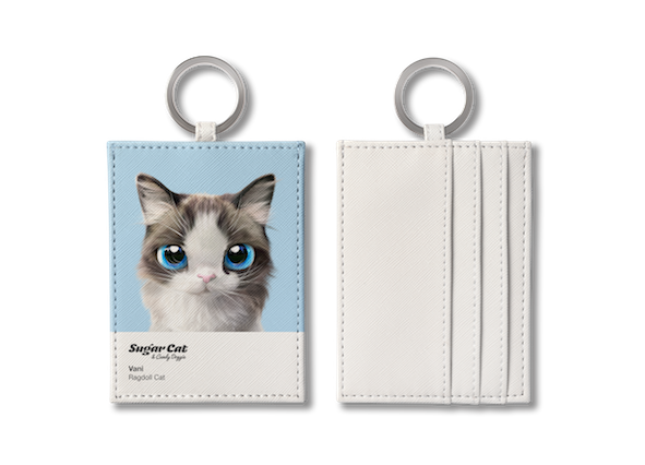 O-ring card holder_SugarCat CandyDoggie_Vani the Ragdoll cat