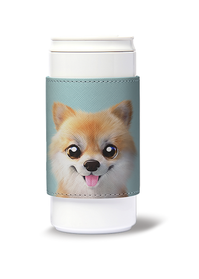 ECO Can Plus 330ml w/ sleeve_SugarCat CandyDoggie_Tan the Pomeranian