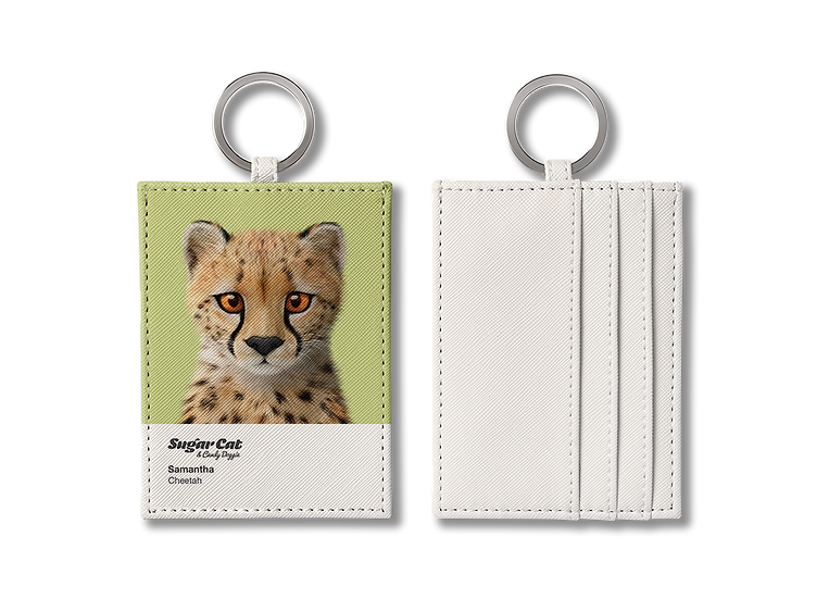 O-ring card holder_SugarCat CandyDoggie_Samantha The Cheetah