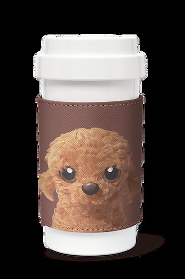 Cafe plus 400ml w/ PU sleeve_SugarCat CandyDoggie_Choco