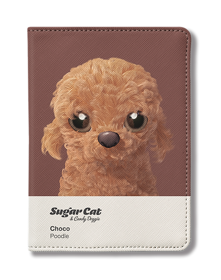 Passport Holder_SugarCat CandyDoggie_Choco the Poodle