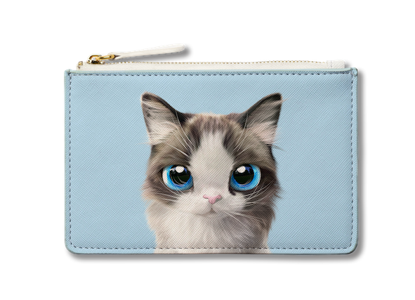 Small Pouch_SugarCat CandyDoggie_Vani the Ragdoll cat