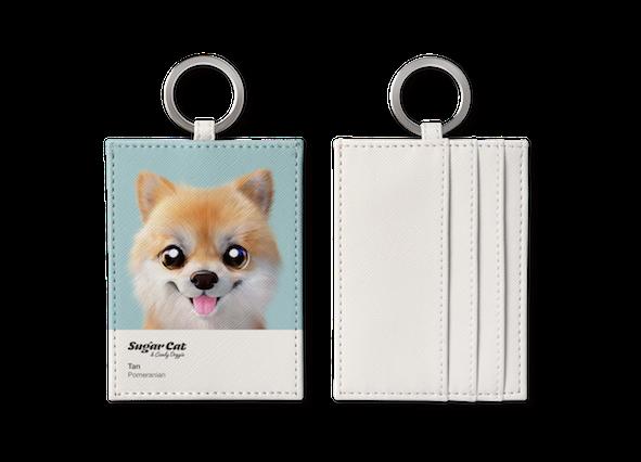 O-ring card holder_SugarCat CandyDoggie_Tan the Pomeranian