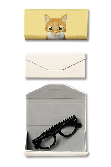 Foldable spectacle case_SugarCat CandyDoggie_Cheese the cat