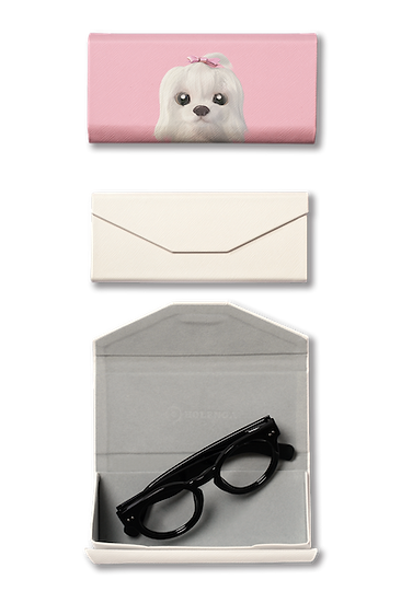 Foldable spectacle case_SugarCat CandyDoggie_Iryn the Maltese