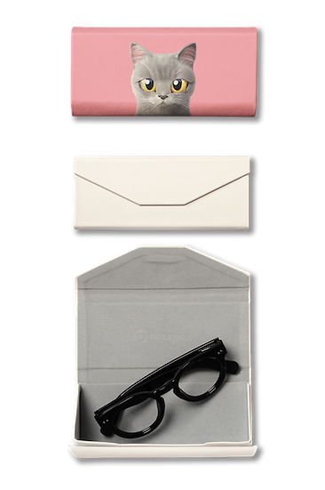 Foldable spectacle case_SugarCat CandyDoggie_Somi the British shorthair cat