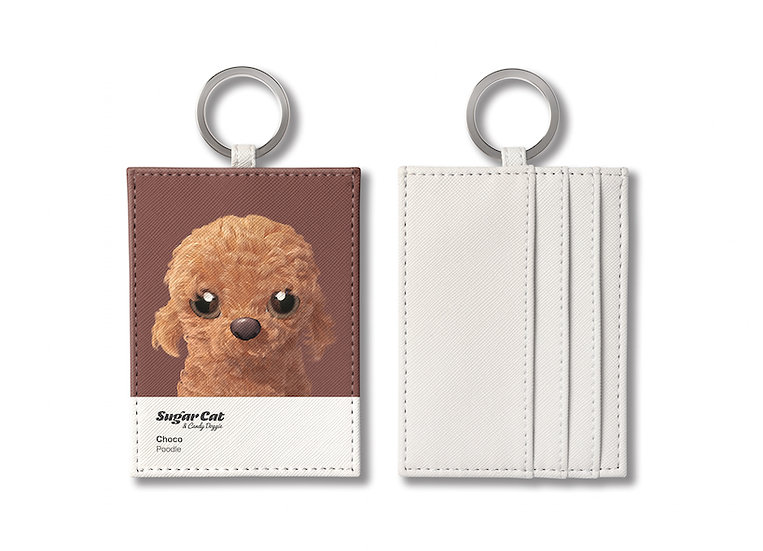 O-ring card holder_SugarCat CandyDoggie_Choco the Poodle