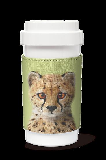 Cafe plus 400ml w/ PU sleeve_SugarCat CandyDoggie_Samantha The Cheetah