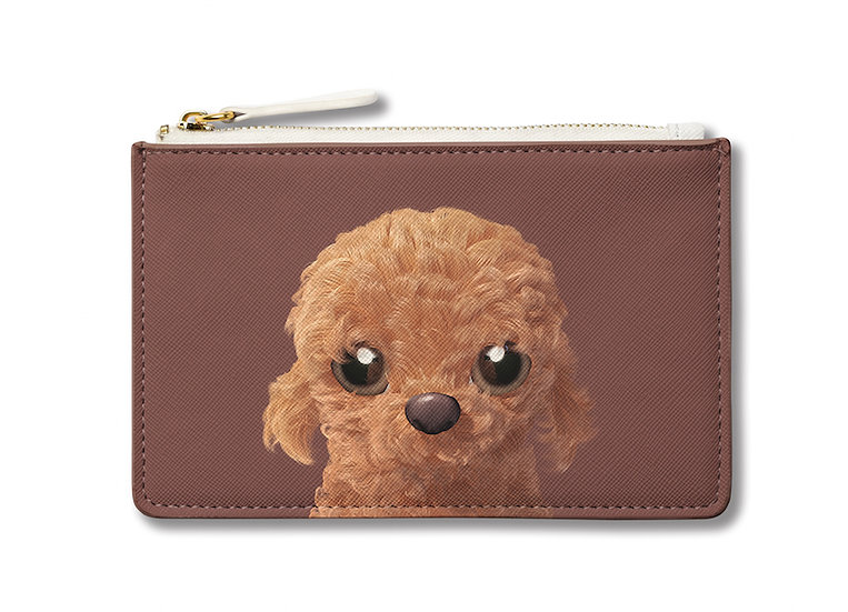 Small Pouch_SugarCat CandyDoggie_Choco the Poodle