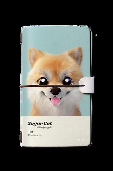 Travelogue notebook_SugarCat CandyDoggie_Tan the Pomeranian